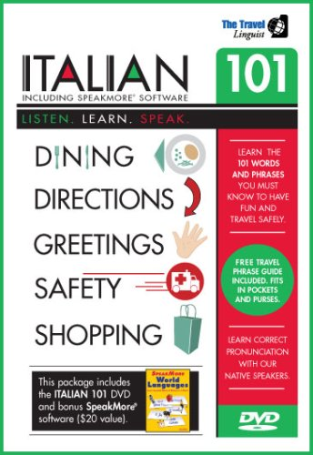 Learn Italian 101 DVD with SpeakMore Italian Software