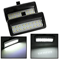 AUDEW 2 X 18 LED Vanity Mirror Sun Visor Light Lamp for Bmw F07 F10 F11 F01 F02 F03 2009 black shell sun shade lamp