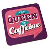 Back Chat Backchat 'The Queen of Caffeine' Coaster