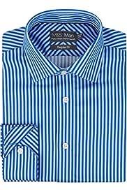 Ultimate Non-Iron Pure Cotton Two Tone Striped Shirt [T11-1080U-S]