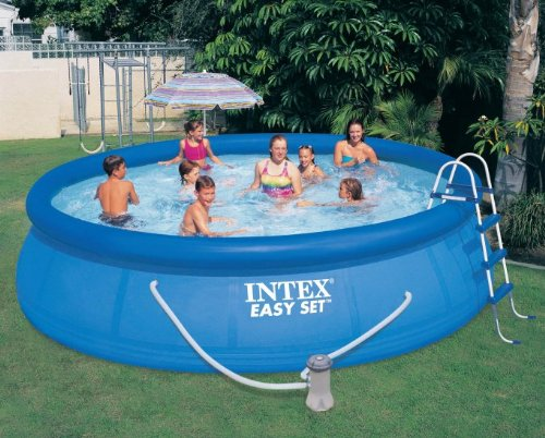 intex easy set pool set 15 ft by 42 inch above ground swimming pool filter pump ebay. Black Bedroom Furniture Sets. Home Design Ideas