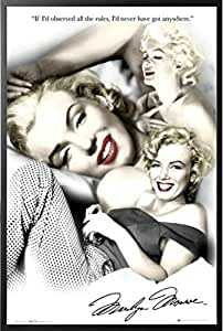 Amazon.com: FRAMED Marilyn Monroe Rules Quotes 36x24 Movie ...