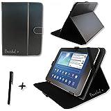 """Noir PU cuir Étui-support housse en pour Logicom TAB1052 10.1"""" 10.1 pouce inch tablette PC + Stylet"""