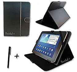 Black PU Leather Case & Stand for NEW September 2014 Android 4.4 KITKAT 10.1