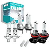 55w Clear Xenon High (main) / Low (dipped) / Fog / Side beam upgrade HeadLight Bulbs FORD MONDEO 3 combi 16V 11.00->