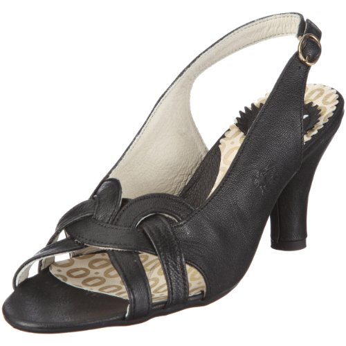 Fly London Women's Arava Black Open Toe P141883004 7 UK
