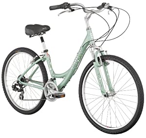 Diamondback Serene Women's Comfort Bike (26-Inch Wheels), Metal Green, Medium/17-Inch