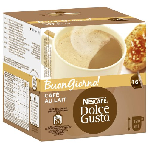 Choose 1 x 16 capsule Nescafe Dolce Gusto Cafe Au Lait from Nescafe