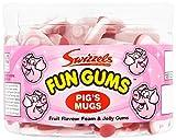 Swizzels Matlow Fun Gum Tubs Pigs Mugs (2 x 120)
