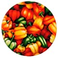 Andreas Silicone Trivet, Market Peppers, 8 Inch