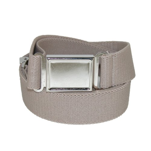 CTM® Kids Elastic 1 Inch Adjustable Belt with Magnetic Buckle, Khaki