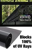 "Heat Control 100% Anti UV Residential Vinyl Wrap 30"" x 10ft Dark Tint Roll Home Office Climate Control"