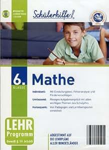 Schülerhilfe! ~ Mathe - 6. Klasse - (Lehr-Programm Gemäß §14 JuSchG) [CD-ROM]