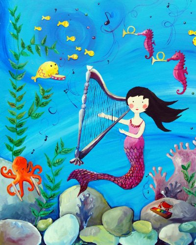 Cici Art Factory Wall Art, Mermaid Brunette, Small