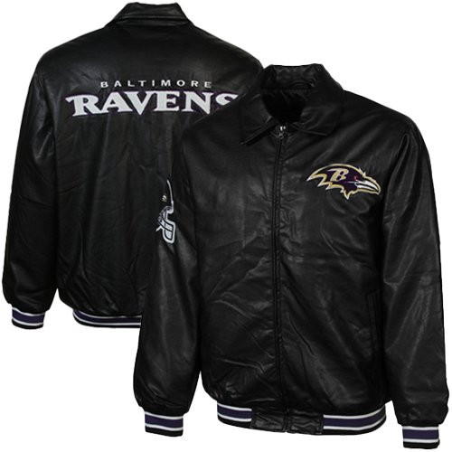 NFL Baltimore Ravens Fashion Faux Leather Jacket - Black (X-Large) at Amazon.com