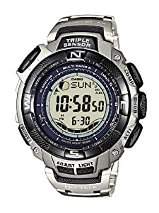 CASIO Sport Pro Trek PRW-1500T-7VER - Reloj unisex de cuarzo, correa de titanio color plata