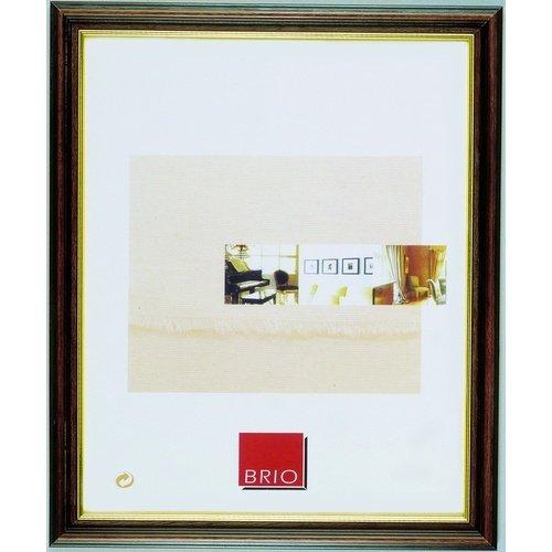 cadres brio brio cadre photo club marron 18x24 cm. Black Bedroom Furniture Sets. Home Design Ideas