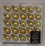 Pack of 25 GOLD Shiny and Matt Christmas Tree Baubles (PM98)