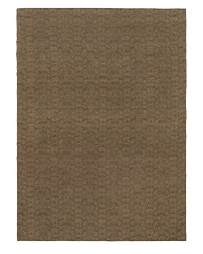 Hand Woven Fab Dhurrie, Brown, 4' 6 x 6' 3