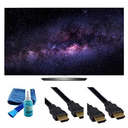 Electronics OLED65B6P FLAT 65-INCH 4K ULTRA HD SMART OLED TV (2016 MODEL) - 4 PIECE SET UP BUNDLE