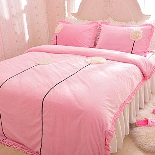 Dandelion Pink Duvet Cover Set Princess Bedding Girls Bedding Women Bedding Gift Idea, Twin Size