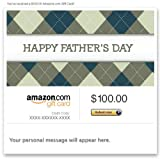 Amazon Gift Card - Email - Happy Father's Day (Argyle)