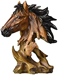 Collectible Horse Bust Sculpture Decoration Figure Figurine Model