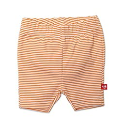 Zutano Baby Girls\' Candy Stripe Bike Shorts, Orange, 24 Months