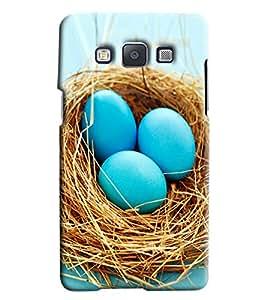 Omnam Blue Eggs Printed Designer Back Cover Case For Samsung Galaxy E7