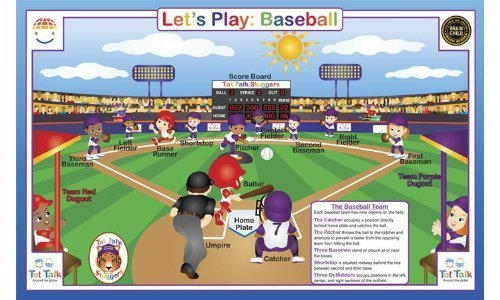 Baseball Placemat by Tot Talk