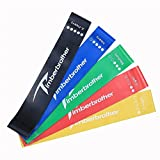Timberbrother エクササイズバンド トレーニング用ゴムバンド ループバンド プレミアムな強度別5本セット