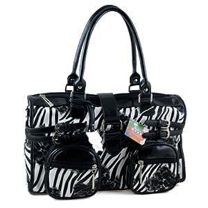 Yippydada Zebrax Baby Changing Bag (Black) by Yippydada