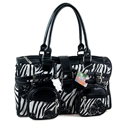 Yippydada Zebrax Baby Changing Bag (Black) by Yippydada