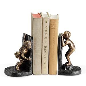 Girl Boy Hide and Seek Book Ends (Set of 2) from SPI Home