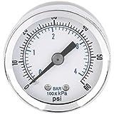 Alcoa Prime Superior 1Pc 1/8' ' NPT Air Compressor Hydraulic Pressure Gauge 0-60 PSI Back Mount