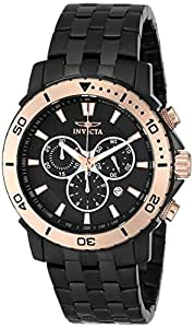 Invicta Men's 6791 Black Stainless-Steel Swiss Quartz Watch with Black Dial