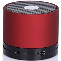 SUPCASE Mini Lightweight Portable Premium Sound Wireless Bluetooth Speaker with Rechargeable Battery - Cola Red, Enhanced Bass, Support Micro SD Card, Free 3.5mm AUX Line-in Cable