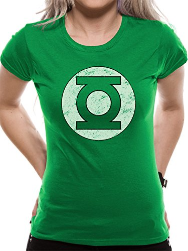 Green Lantern Logo Maglia donna verde XL