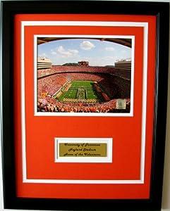 NCAA Tennessee Volunteers Neyland Stadium Framed Portrait Photo with Nameplate by CGI Sports Memories