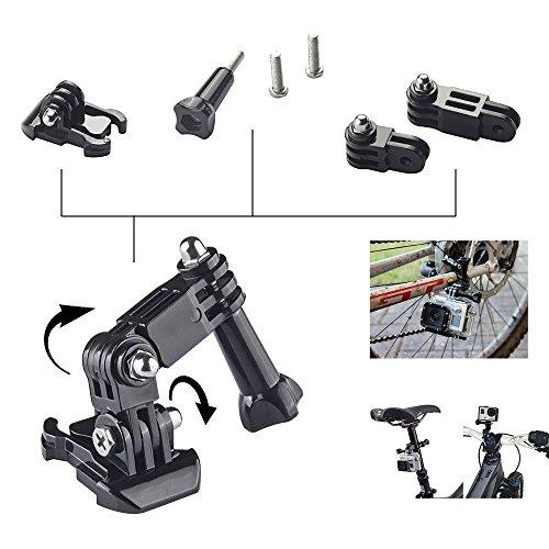 Iextreme-Accessory-Kit-ultimo-Combo-Kit-15-Accessori-per-GoPro-Eroe-43-321-Camera-Selfie-Stick-monopiede-coppa-Automobile-Windshied-aspirazione-B-modello-di-testa-striscia-360-gradi-di-rotazione-della