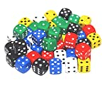 BigCherry - Dice, 50 x 12mm Round Cor...