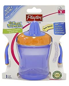 Playtex Baby The First Sipster Spill-Proof 7 OZ Cup: Boy Colors