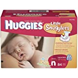Huggies Little Snugglers Diapers, Newborn, 84 Count