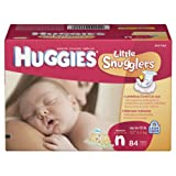 Huggies Little Snugglers Diapers, Newborn, 84 Count