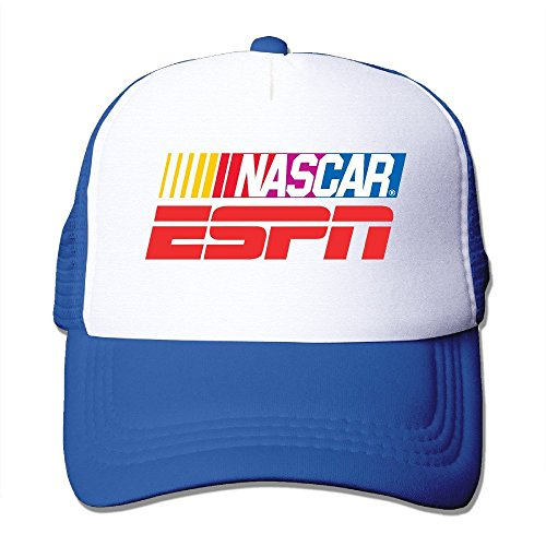 custom-rock-nascar-on-espn-unisex-half-mesh-adjustable-baseball-cap-hat-snapback-royalblue
