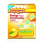 EMERGEN-C Zingy Lemon Energy Release and Immunity Support Food Supplement - Pack of 16