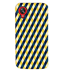 Fuson Premium Chequered Pattern Printed Hard Plastic Back Case Cover for LG Google Nexus 5