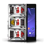 STUFF4 Phone Case Cover for Sony Xperia T3 Cherries Design Slot Machine Collection
