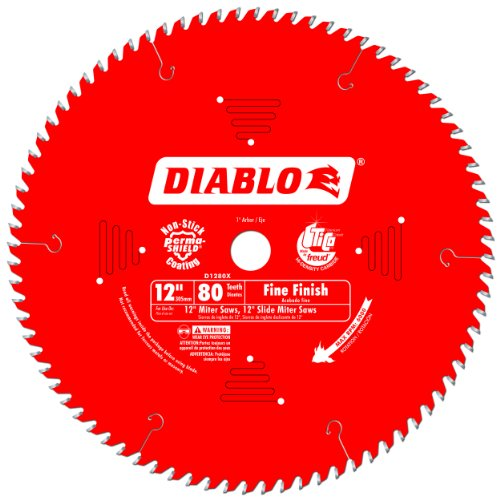 Freud D1280X Diablo 12-Inch 80 Tooth ATB Crosscutting Saw Blade with 1-Inch Arbor (80 Tooth 12 Inch Miter Saw Blade compare prices)