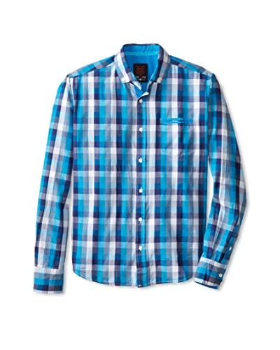 ONE90ONE Men's Bergen Single Pocket Plaid Shirt